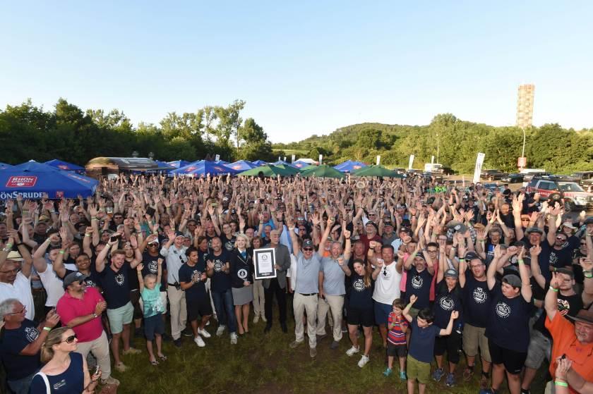 70 Jahre Land Rover Weltrekord Parade in Bad Kissingen am 30.05.2018